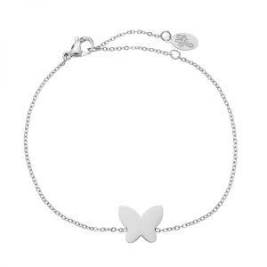 Stainless steel armband Butterfly zilver
