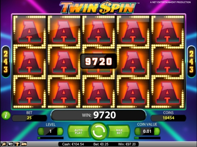 twin-spin-grote uitbetaling