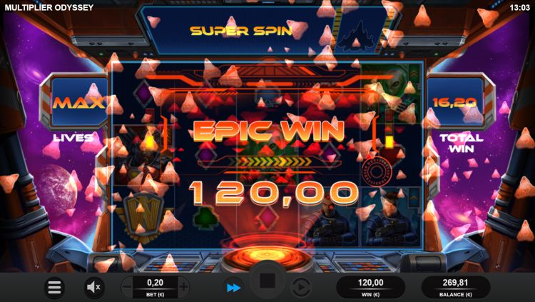 Multiplier Odyssey slot review relax gaming epic win