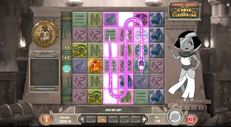 charlie chance and the curse of cleopatra play n go online slot review