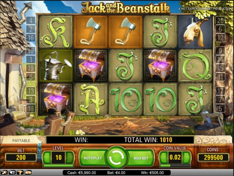 Jack and the beanstalk netent review