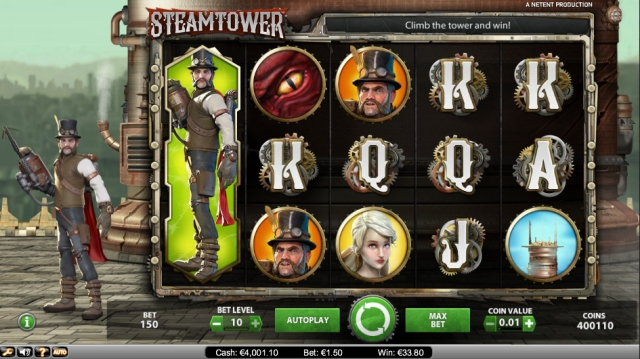 Steam Tower Netent review