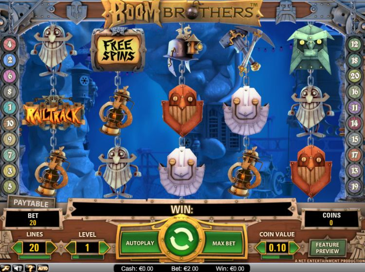 Boom brothers slot review netent