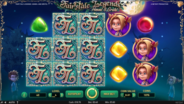 Hansel and gretel slot fairy feature