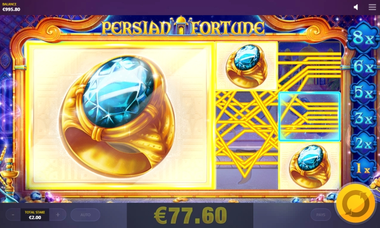Persian Fortune slot red tiger